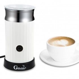 Gustino Mesin Pembuat Kopi Espresso Latte Art Electric Coffee Milk Frother 500W - DM015 - White