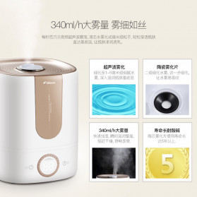 Xiaomi DEERMA Air Humidifier Ultrasonic Aromatherapy Oil Diffuser Large Capacity 5L - DEM-F535 - White - 5