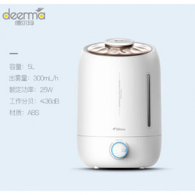 Xiaomi DEERMA Air Humidifier Ultrasonic Aromatherapy Oil Diffuser Large Capacity 5L - DEM-F500 - White - 2