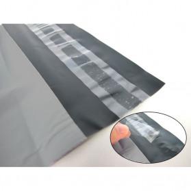 TaffPACK Kantong Amplop Plastik Packing Polymailer Polybag Doff 60 Micron 25x39cm 100 PCS - Gray - 5