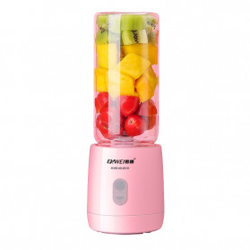 Enwei Blender Mixer Buah Portable Mini Juicer Cup USB Rechargeable 400ML - NW028 - Pink