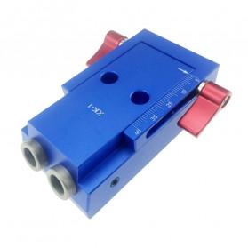 ALLSOME Alat Pembuat Lubang Kayu Portable Hole Jig Kit with PH1 Screwdriver 9.5mm - XK-1 - Blue - 2