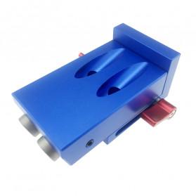 ALLSOME Alat Pembuat Lubang Kayu Portable Hole Jig Kit with PH1 Screwdriver 9.5mm - XK-1 - Blue - 6
