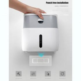 BAISPO Kotak Tisu Tissue Storage Toilet Paper Box Dispenser Double Layer - E1804 - White/Black - 3