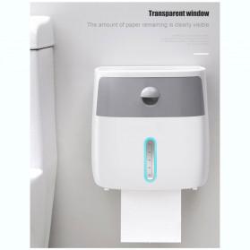 BAISPO Kotak Tisu Tissue Storage Toilet Paper Box Dispenser Double Layer - E1804 - White/Black - 4