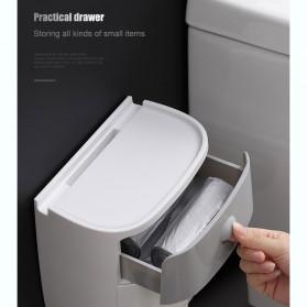 BAISPO Kotak Tisu Tissue Storage Toilet Paper Box Dispenser Double Layer - E1804 - White/Black - 5