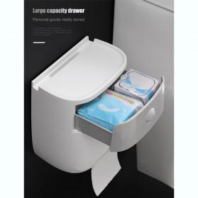 BAISPO Kotak Tisu Tissue Storage Toilet Paper Box Dispenser Double Layer - E1804 - White/Black - 8