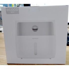 ECOCO Kotak Tisu Tissue Storage Toilet Paper Box Dispenser Double Layer - E1804 - White/Black - 12