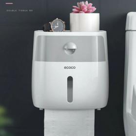 BAISPO Kotak Tisu Tissue Storage Toilet Paper Box Dispenser Double Layer - E1804 - Gray/White