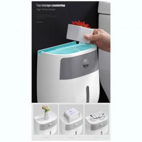 BAISPO Kotak Tisu Tissue Storage Toilet Paper Box Dispenser Double Layer - E1804 - Gray/White - 6