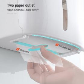 BAISPO Kotak Tisu Tissue Storage Toilet Paper Box Dispenser Double Layer - E1804 - Gray/White - 7