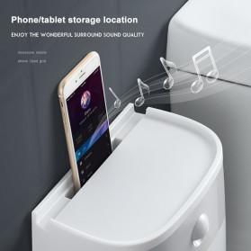 BAISPO Kotak Tisu Tissue Storage Toilet Paper Box Dispenser Double Layer - E1804 - Gray/White - 9