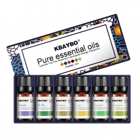 KBAYBO Pure Essential Fragrance Oils Minyak Aromatherapy Diffusers 10ml 6 PCS - K-E2