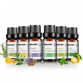 KBAYBO Pure Essential Fragrance Oils Minyak Aromatherapy Diffusers 10ml 6 PCS - K-E2 - 4
