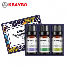 KBAYBO Pure Essential Fragrance Oils Aromatherapy Diffusers 10ml 3 PCS - K-E2
