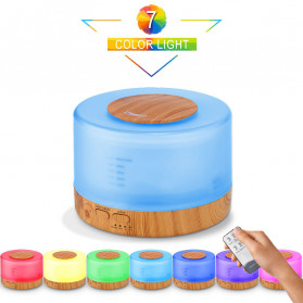 Taffware Air Humidifier Aromatherapy Oil Diffuser 7 Color 500ml with Remote Control - HUMI 2467