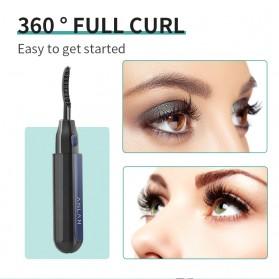 ANLAN Pelentik Bulu Mata Elektrik Eyelash Curler USB Rechargeable - ALJMJ01-01 - Black - 11