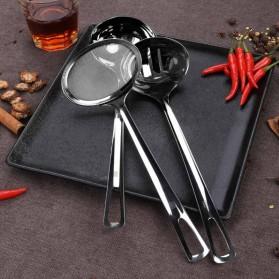 Huohou Sendok Kuah Sup 3 in 1 Oil Water Soup Separation Spoon - HU0055 - Silver - 6