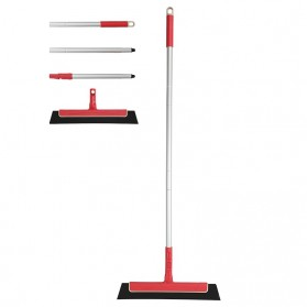 CLEANHOME Sapu Karet Rubber Broom Floor Collapsible Sweeper - RSR0028 - Red