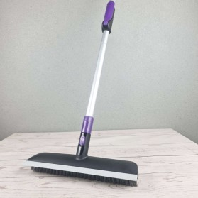 Akoma Sikat Lantai Telescopic Pole Floor Brush Rubber Broom - FSZ-33 - Black