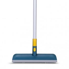 Yijie Sikat Lantai Telescopic Pole Floor Brush Rubber Broom - FSZ-33 - Blue