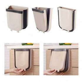 ALANING Tempat Sampah Lipat Dapur Foldable Trash Bin - ALN007 - Brown