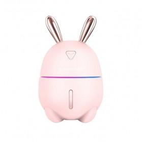 ANTINIYA Air Humidifier Aromatherapy Oil Diffuser Night Light Rabbit 300ml - RJ0002 - Pink