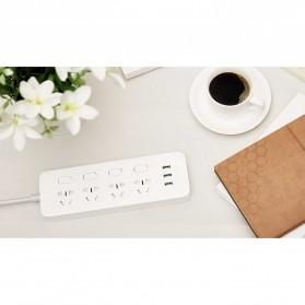 Xiaomi Mi Smart Power Strip 4 Plug dengan 3 USB Port 2A - White - 7