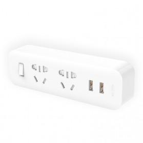 Xiaomi Mi Smart Power Strip 2 Plug dengan 2 USB Port 2A - White - 2