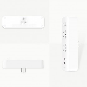 Xiaomi Mi Smart Power Strip 2 Plug dengan 2 USB Port 2A - White - 3