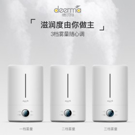 Xiaomi Deerma DEM 4 UV Purifying Air Humidifier Aromatherapy Oil Diffuser Touch Version 5L - DEM-F628S - White - 5