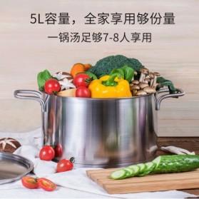Xiaomi Zhiwu Pot Pan Panci Masak Stainless Steel 5L - GJT01CM - Silver - 3