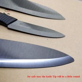 Xiaomi Mijia Huohou Nano Set Pisau Dapur Kitchen Knife Bahan Keramik 4 in 1 - HU0010 - Black - 6