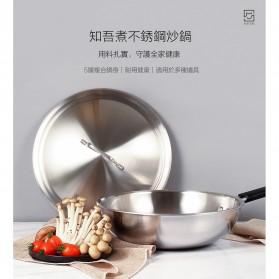 Xiaomi Zhiwut Wok Boiled Pan Panci Rebus Stainless Steel 4.4L - GJC01CM - Silver - 3
