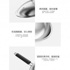 Xiaomi Zhiwut Wok Boiled Pan Panci Rebus Stainless Steel 4.4L - GJC01CM - Silver - 7