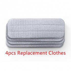 Xiaomi Microfiber Cloth Refill Replacement 4 PCS TB01 for Xiaomi Deerma Sweeper Mop - Gray