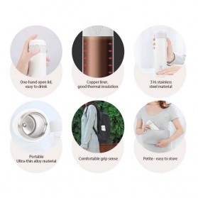 Xiaomi Viomi Botol Thermos Vacuum Insulated Water Bottle 300ml - White - 8