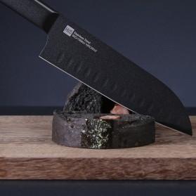 Xiaomi Mijia Huohou Pisau Dapur Kitchen Knife 2 PCS - HU0015 - Black - 4