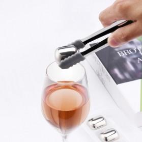 Xiaomi Mijia Circle Joy Ice Cube Es Batu Wine Pendingin Minuman Jus 304 Food Grade Stainless Steel - Silver - 3
