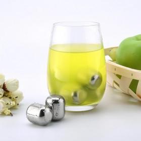 Xiaomi Mijia Circle Joy Ice Cube Es Batu Wine Pendingin Minuman Jus 304 Food Grade Stainless Steel - Silver - 4