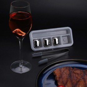 Xiaomi Mijia Circle Joy Ice Cube Es Batu Wine Pendingin Minuman Jus 304 Food Grade Stainless Steel - Silver - 5