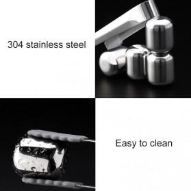Xiaomi Mijia Circle Joy Ice Cube Es Batu Wine Pendingin Minuman Jus 304 Food Grade Stainless Steel - Silver - 9