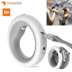 Xiaomi MOESTAR UFO Youpin Tali Kalung Anjing Retractable LED 2.6m - Gray/White