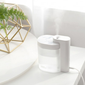 Sothing Geometry Air Humidifier Ultrasonic Purifying Aromatherapy Oil Diffuser 260ml - DSHJ-H-002 - White - 4
