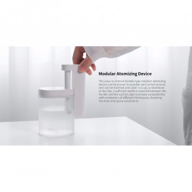 Sothing Geometry Air Humidifier Ultrasonic Purifying Aromatherapy Oil Diffuser 260ml - DSHJ-H-002 - White - 8