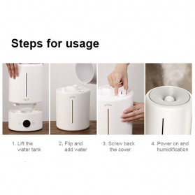Xiaomi Deerma Touch Air Humidifier Ultrasonic Aromatherapy Oil Diffuser 5L - DEM-F628A - White - 8