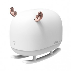 Sothing Deer Air Humidifier Aromatherapy Oil Diffuser Night Light 260ML - DSHJ-H-009 - White