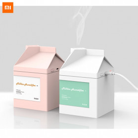 Xiaomi Milk Box Air Humidifier Ultrasonic Purifying Aromatherapy Oil Diffuser USB Charging 260ML - DSHJ-H-001 - Pink