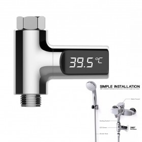 ZhiNuan Shower Thermometer LED Display Home Water - BD-LS-01 - Silver