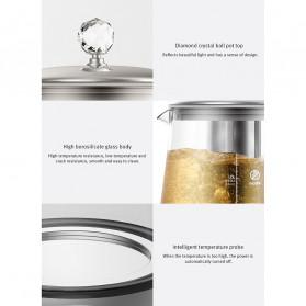Xiaomi Deerma Teko Pot Kettle Borosilicate Glass 1.5L with Heating Plate 1000W - DEM-YS802 - Silver - 9